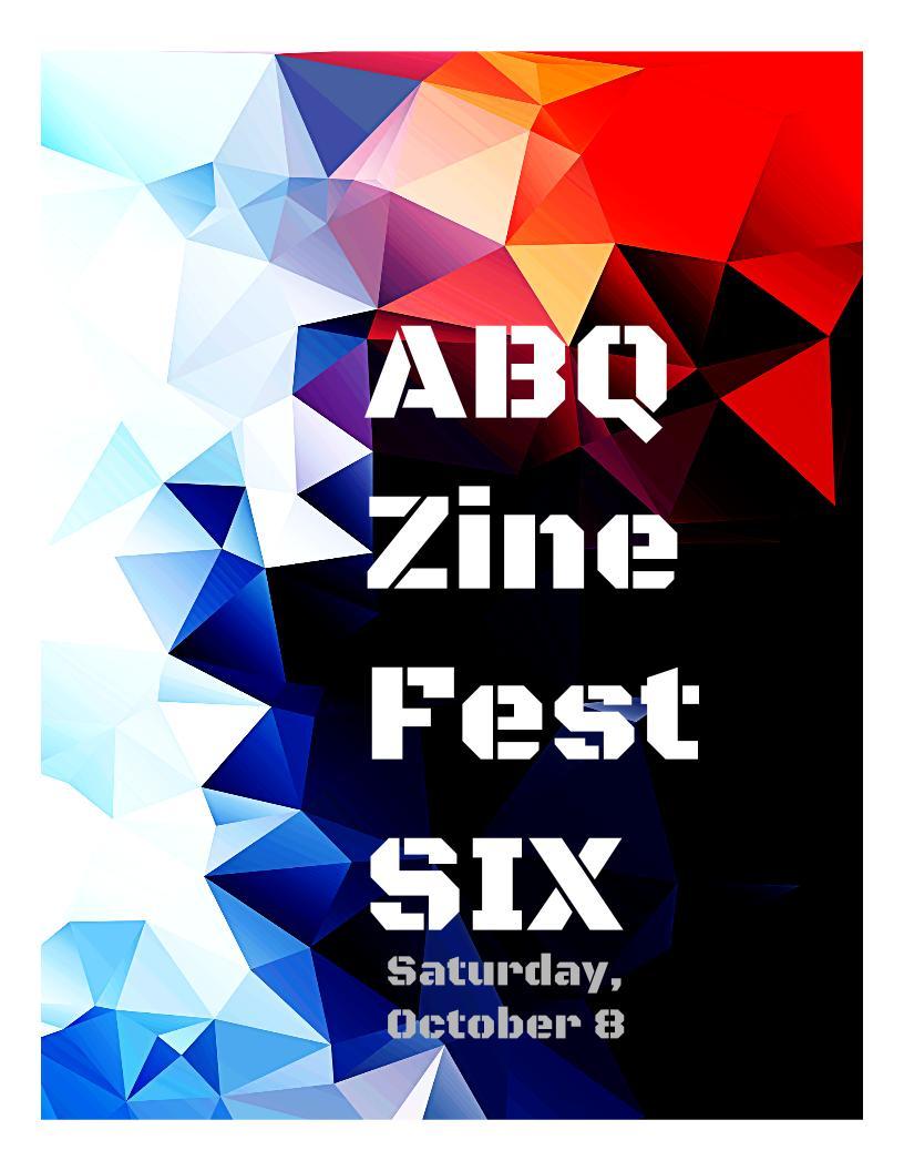 ABQ Zine Fest 2016 Prelim Poster